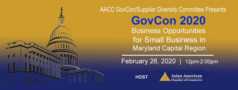GovCon 2020 Business Opportunities for Small Business in Maryland Capital Region